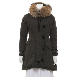 Moncler Fur Trimmed Coat